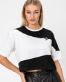 Converse Cut-And-Sew Oversized Cropped Тениска