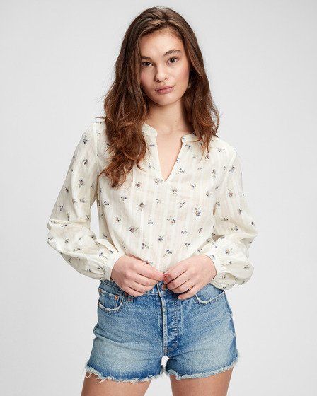 GAP Shirred Popover Блуза